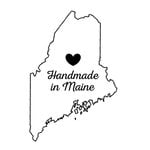 Scrapbook Customs - State Sightseeing Collection - Rubber Stamp - Handmade In - Maine