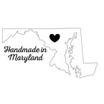 Scrapbook Customs - State Sightseeing Collection - Rubber Stamp - Handmade In - Maryland