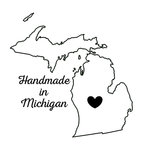 Scrapbook Customs - State Sightseeing Collection - Rubber Stamp - Handmade In - Michigan
