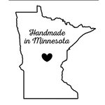 Scrapbook Customs - State Sightseeing Collection - Rubber Stamp - Handmade In - Minnesota