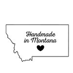 Scrapbook Customs - State Sightseeing Collection - Rubber Stamp - Handmade In - Montana