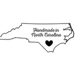 Scrapbook Customs - State Sightseeing Collection - Rubber Stamp - Handmade In - North Carolina