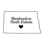 Scrapbook Customs - State Sightseeing Collection - Rubber Stamp - Handmade In - North Dakota