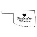 Scrapbook Customs - State Sightseeing Collection - Rubber Stamp - Handmade In - Oklahoma