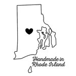 Scrapbook Customs - State Sightseeing Collection - Rubber Stamp - Handmade In - Rhode Island