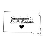 Scrapbook Customs - State Sightseeing Collection - Rubber Stamp - Handmade In - South Dakota