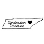 Scrapbook Customs - State Sightseeing Collection - Rubber Stamp - Handmade In - Tennessee