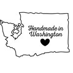 Scrapbook Customs - State Sightseeing Collection - Rubber Stamp - Handmade In - Washington