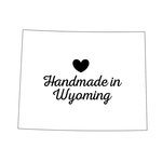 Scrapbook Customs - State Sightseeing Collection - Rubber Stamp - Handmade In - Wyoming