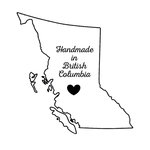 Scrapbook Customs - Canadian Provinces Sightseeing Collection - Rubber Stamp - Handmade In - British Columbia