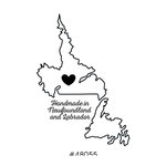 Scrapbook Customs - Canadian Provinces Sightseeing Collection - Rubber Stamp - Handmade In - Newfoundland