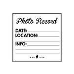 Scrapbook Customs - Rubber Stamp - Photo Record