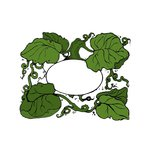 Scrapbook Customs - Rubber Stamp - Pumpkin Vine Frame