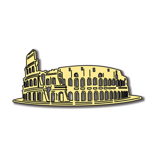 Scrapbook Customs - World Collection - Italy - Laser Cut - Roman Colosseum