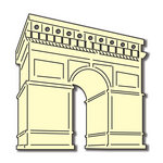 Scrapbook Customs - World Collection - France - Laser Cut - Arc de Triomphe