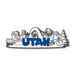 Scrapbook Customs - United States Collection - Utah - Laser Cut - Word and Background