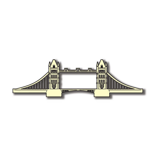 Scrapbook Customs - World Collection - England - Laser Cut - Tower Bridge