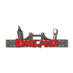 Scrapbook Customs - World Collection - England - Laser Cut - Word and Background