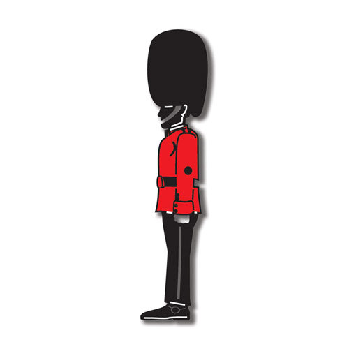 Scrapbook Customs - World Collection - England - Laser Cut - Buckingham Palace Guard