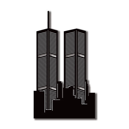 Scrapbook Customs - United States Collection - New York - Laser Cut - Twin Towers