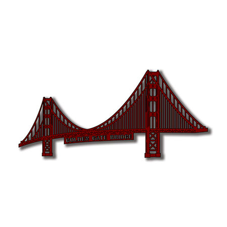 Scrapbook Customs - United States Collection - California - Laser Cut - Golden Gate Bridge