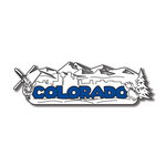 Scrapbook Customs - United States Collection - Colorado - Laser Cut - Word and Background