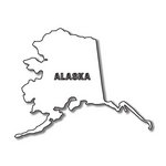 Scrapbook Customs - United States Collection - Alaska - Laser Cut - State Shape