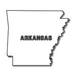 Scrapbook Customs - United States Collection - Arkansas - Laser Cut - State Shape