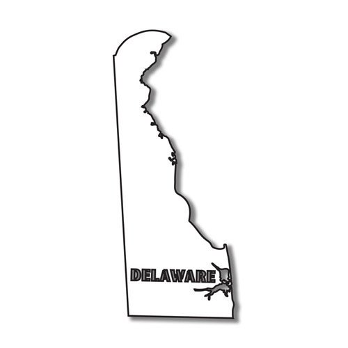 Scrapbook Customs - United States Collection - Delaware - Laser Cut - State Shape