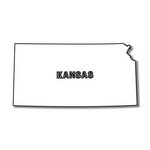 Scrapbook Customs - United States Collection - Kansas - Laser Cut - State Shape