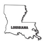 Scrapbook Customs - United States Collection - Louisiana - Laser Cut - State Shape