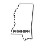 Scrapbook Customs - United States Collection - Mississippi - Laser Cut - State Shape