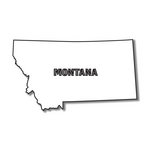 Scrapbook Customs - United States Collection - Montana - Laser Cut - State Shape