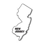 Scrapbook Customs - United States Collection - New Jersey - Laser Cut - State Shape