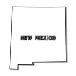 Scrapbook Customs - United States Collection - New Mexico - Laser Cut - State Shape