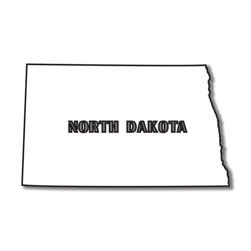 Scrapbook Customs - United States Collection - North Dakota - Laser Cut - State Shape