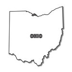 Scrapbook Customs - United States Collection - Ohio - Laser Cut - State Shape