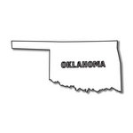 Scrapbook Customs - United States Collection - Oklahoma - Laser Cut - State Shape