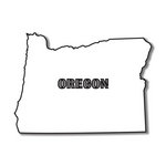 Scrapbook Customs - United States Collection - Oregon - Laser Cut - State Shape
