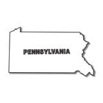Scrapbook Customs - United States Collection - Pennsylvania - Laser Cut - State Shape