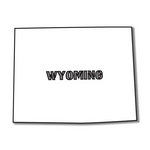Scrapbook Customs - United States Collection - Wyoming - Laser Cut - State Shape