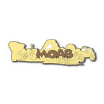 Scrapbook Customs - United States Collection - Utah - Laser Cut - Moab - Word and Background