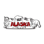 Scrapbook Customs - United States Collection - Alaska - Laser Cut - Word and Background