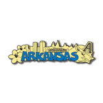 Scrapbook Customs - United States Collection - Arkansas - Laser Cut - Word and Background