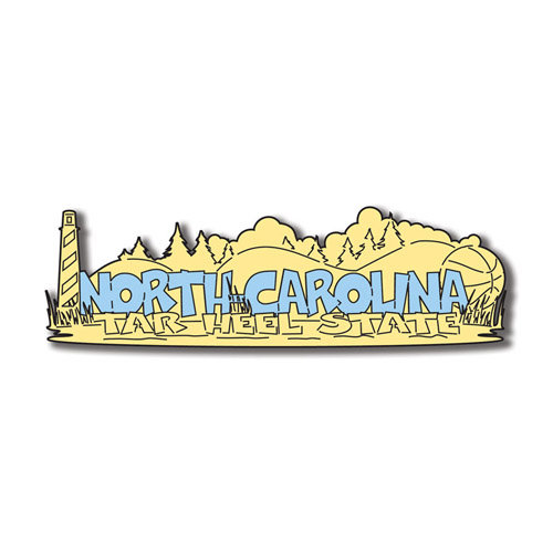 Scrapbook Customs - United States Collection - North Carolina - Laser Cut - Word and Background
