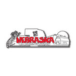 Scrapbook Customs - United States Collection - Nebraska - Laser Cut - Word and Background