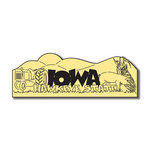 Scrapbook Customs - United States Collection - Iowa - Laser Cut - Word and Background