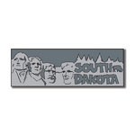 Scrapbook Customs - United States Collection - South Dakota - Laser Cut - Word and Background