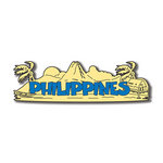 Scrapbook Customs - World Collection - Philippines - Laser Cut - Word and Background