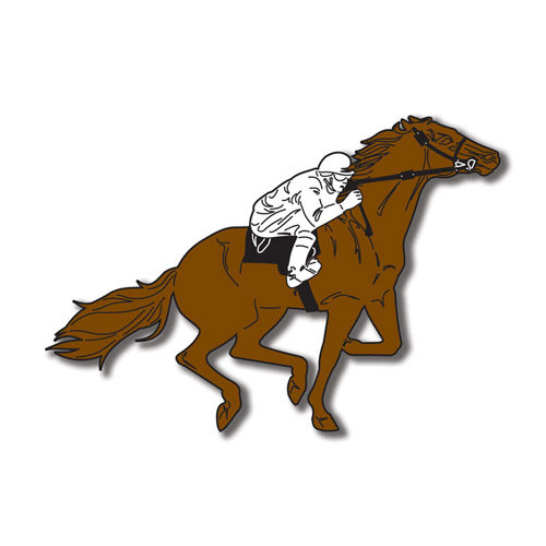 Scrapbook Customs - United States Collection - Kentucky - Laser Cut - Horse and Jockey